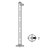 Стойка ограждения ОС1 одноур. крайняя Н=1000 мм, d=25 мм