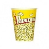 "Cтакан бумажный для попкорна V 32 ""Желтый"" (1.0 л.)"