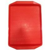 Поднос пластиковый (42х30) красный