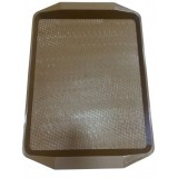 Поднос пластиковый (42х30) темно-коричневый