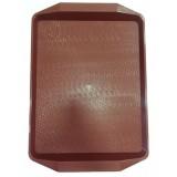 Поднос пластиковый (42х30) вишневый