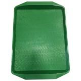 Поднос пластиковый (42х30) зелёный