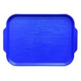 Поднос пластиковый (45х35,5) голубой