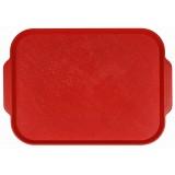 Поднос пластиковый (45х35,5) красный
